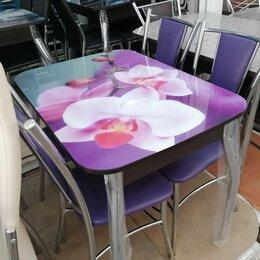 Столы и столики - Столы обеденные и гостевые раскладные Массив и Стекло , 0