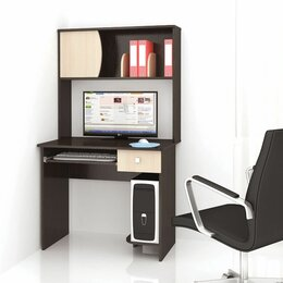 Компьютерные и письменные столы - Стол компьютерный грета-4 венге/дуб молочный текс, 0
