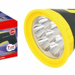 Фонари - Ultraflash фонарь ручной LED3807M (акк. 4V 0.5Ah) 7св/д (25lm) черн+желт/плас..., 0