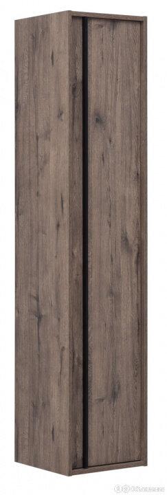 Пенал подвесной Aquanet Lino 350х1600х330 цвет дуб веллингтон 253914 по цене 17285₽ - Шкафы, стенки, гарнитуры, фото 0