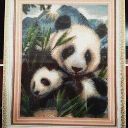 "Картины, постеры, гобелены, панно - Алмазная мозаика ""Панды"", 0"