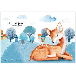 """Рисование - Альбом для рисования 12л., А4, на скрепке Greenwich Line """"Little life. Deer"""",..., 0"""