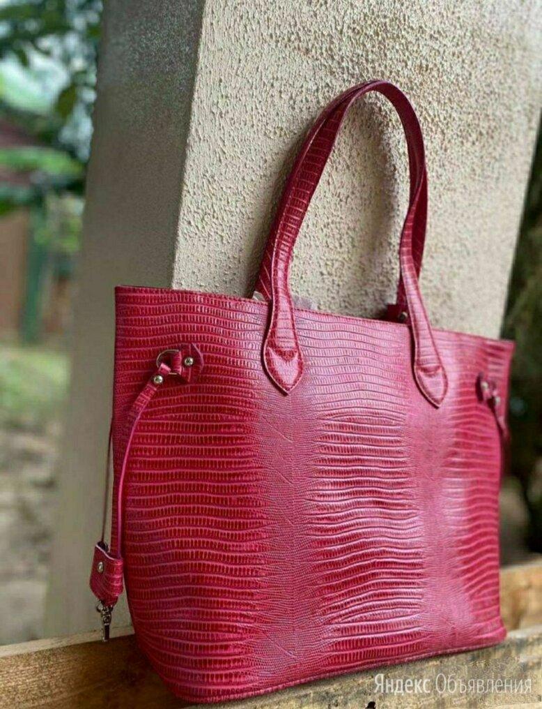 Большая женская сумка из кожи игуаны оригинал Таиланд по цене 11000₽ - Сумки, фото 0