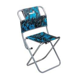 Походная мебель - Стул туристический со спинкой синий СР-450.22(с) труба ф22 Helios, 0