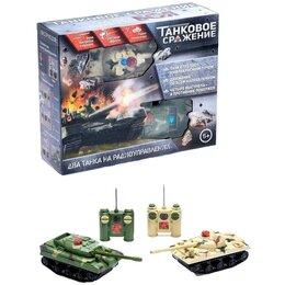 Модели - Танковое сражение/ бой, 2 танка, свет и звук, 0