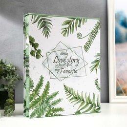 Фотографии, письма и фотоальбомы - Фотоальбом на 400 фото 10х15 см 'Пальмовые листья' в коробке 35х28,5х5 см, 0