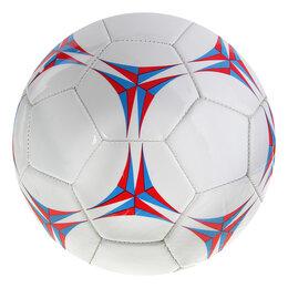 Мячи - Мяч футбольный, размер 5, 32 панели, PVC, машинная сшивка, 2 подслоя, 0