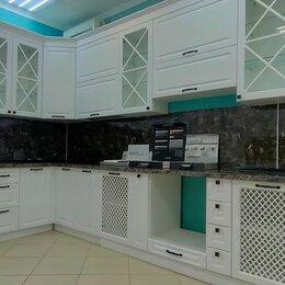 Мебель для кухни - Кухня угловая белая с сервантом 2021, 0