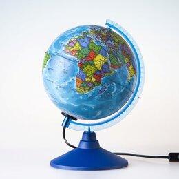Глобусы - Глобус политический «Классик Евро», диаметр 150 мм, с подсветкой, 0