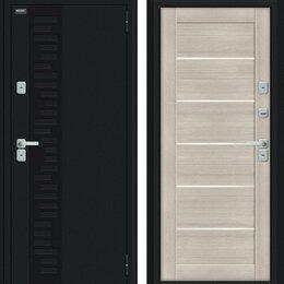 Входные двери - Входная дверь Thermo Техно Декор Букле черное Cappuccino Veralinga, 0