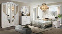 Кровати - Спальня Мелани 1,Белый+золото патина, 0