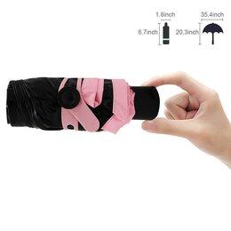 Зонты и трости - Супер компактный и стильный зонт! Мини зонт Black Lemon, розовый, 0
