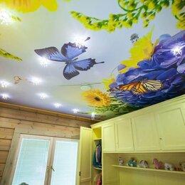 Архитектура, строительство и ремонт - Натяжные потолки одноуровневые с фотопечатью для детской, 0