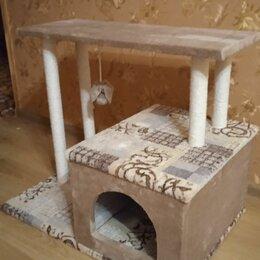 Лежаки, домики, спальные места - Домик для кошки с когтеточкой и лежанкой, 0