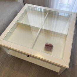 Столы и столики - Liatorp лиаторп придиванный столик, белый/стекло57x40 см, 0