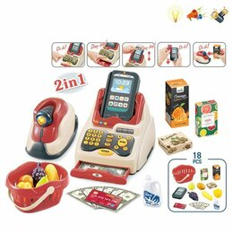 Игрушечная мебель и бытовая техника - Игрушка кассовый аппарат 200794285 со светом и звуком, 0