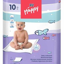 Пеленки, клеенки - ХЭППИ - пеленки детские 60 х 60 по 10шт., 0
