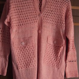 Блузки и кофточки - Женский кардиган спицами, 0