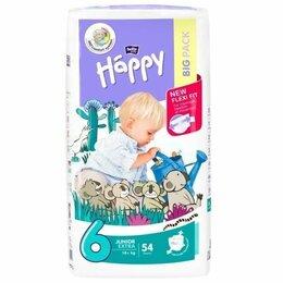 Подгузники - ХЭППИ - подгузники детские JUNIOR Extra (6) по 54шт. (более 16 кг), 0