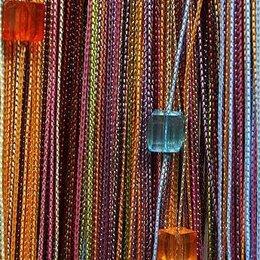 Шторы - Нитяные шторы Portgallery мультиколор 104 с кубиками плотные, 0