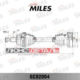 Трансмиссия  - MILES GC02004 Привод в сборе AUDI A3/SKODA OCTAVIA/VW GOLF/BORA 1.9TD 96- прав. , 0