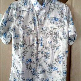 Рубашки - Мужская рубашка с коротким рукавом, размер 44-46 (S), 0