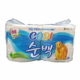 """Бумажные салфетки, носовые платки - Особо мягкая туалетная бумага «Codi Pure Deco Soft Strong"""" (трехслойная, 0"""