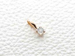Кулоны и подвески - Подвеска с бриллиантом из комбинированного золота, 0
