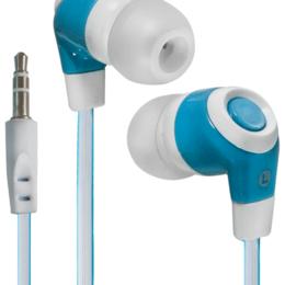 Аксессуары - Наушники Defender Trendy-702 для MP3, белый&голубой, 1,1 м, 0