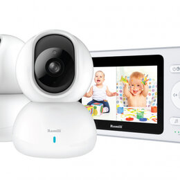 Радио- и видеоняни - Видеоняня с двумя камерами Ramili Baby RV500X2, 0