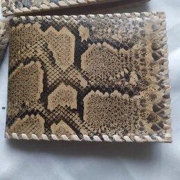 Кошельки - Мужские портмоне из кожи питона, кобры, верблюда, 0