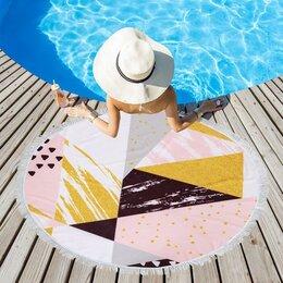 Туалетная бумага и полотенца - Полотенце пляжное Этель 'Геометрия', d 150см, 0
