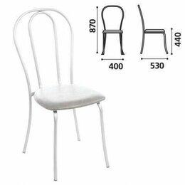 """Кресла и стулья - Стул для столовых, кафе, дома """"Вереск"""", белый каркас, кожзам светло..., 0"""