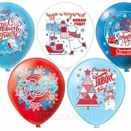 """Украшения и бутафория - Воздушный шарик 12""""/30 см С Новым Годом 1 шт, цвет микс, 0"""