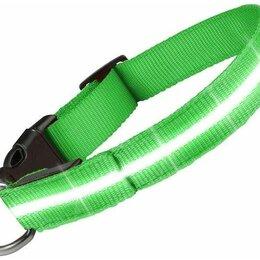 Ошейники  - Светящийся ошейник для собак Goodly, светодиодный LED, зеленый, размер M, 30-..., 0