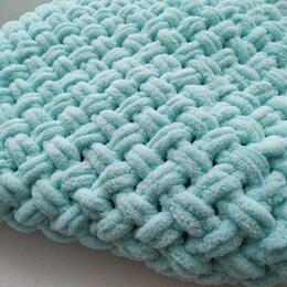 Пледы и покрывала - Плед из плюшевой пряжи плетенка, 0
