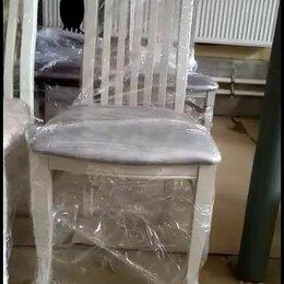 Стулья, табуретки - Деревянный стул со спинкой, 0