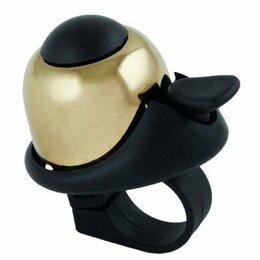 Развивающие игрушки - Звонок M-WAVE алюм./пластик мини D=36мм громкий и долгий звук золотистый 5-420, 0