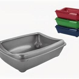 Туалеты и аксессуары  - N1 Туалет для кошки глубокий с бортиком, 43х30х12 см, 0