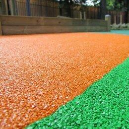 Садовые дорожки и покрытия - Оранжевое резиновое покрытие из резиновой крошки, 0