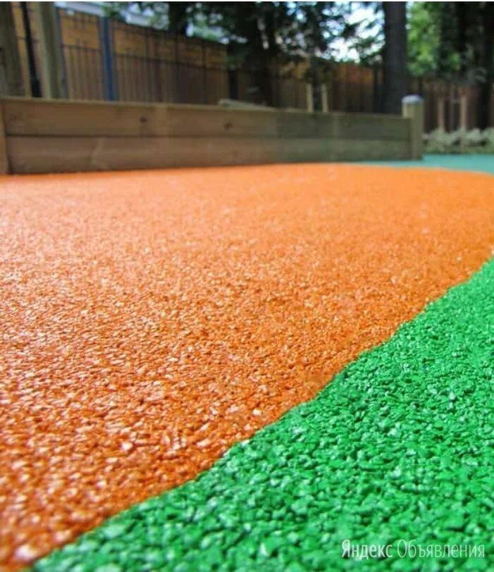 Оранжевое резиновое покрытие из резиновой крошки по цене 400₽ - Садовые дорожки и покрытия, фото 0