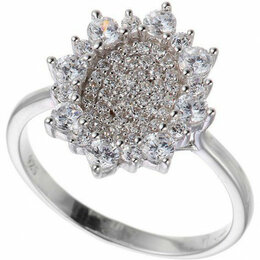 Кольца и перстни - Element47 кольцо серебро вес 3,03 вставка фианит арт. 743784, 0