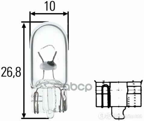 Лампа W3w W2,1x9,5d HELLA арт. 8GP 003 594-241 по цене 40₽ - Лампочки, фото 0