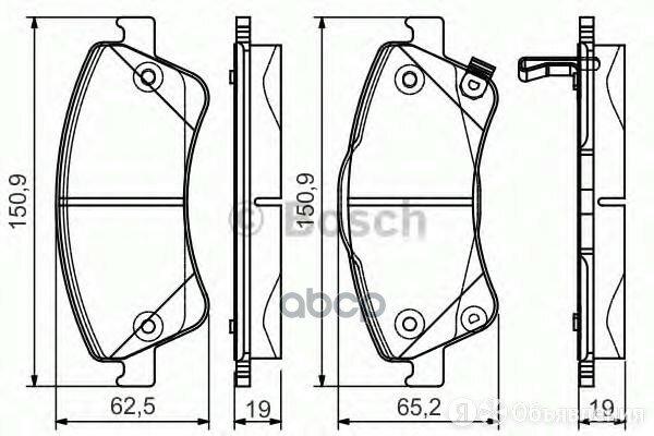 Колодки Toyota Auris 06=> , Avensis Station Wagon (T27) 09=> Bosch арт. 0 986... по цене 2750₽ - Тормозная система , фото 0