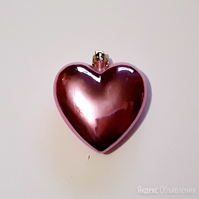 Елочный шар сердце 8 см украшение декор по цене 100₽ - Ёлочные украшения, фото 0