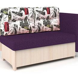 Диваны и кушетки - Кушетка Шарм-Дизайн Гамма 120 рогожка фиолетовый и Париж ЛДСП вяз, 0