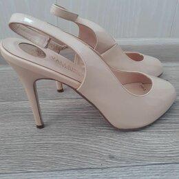 Босоножки - Туфли женские пудрового цвета, 0