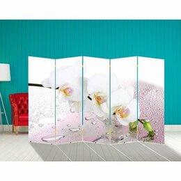 """Ширмы - Ширма """"Орхидея и капли воды"""" 250 × 160см, 0"""