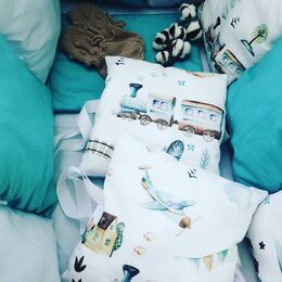 Покрывала, подушки, одеяла - Бортики в кроватку,новый комплект , 0