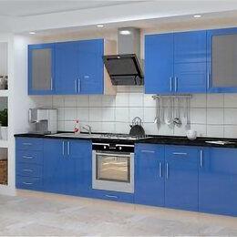 Мебель для кухни - Гарнитур кухонный Гамма-5. Синий глянец, дуб молочный., 0